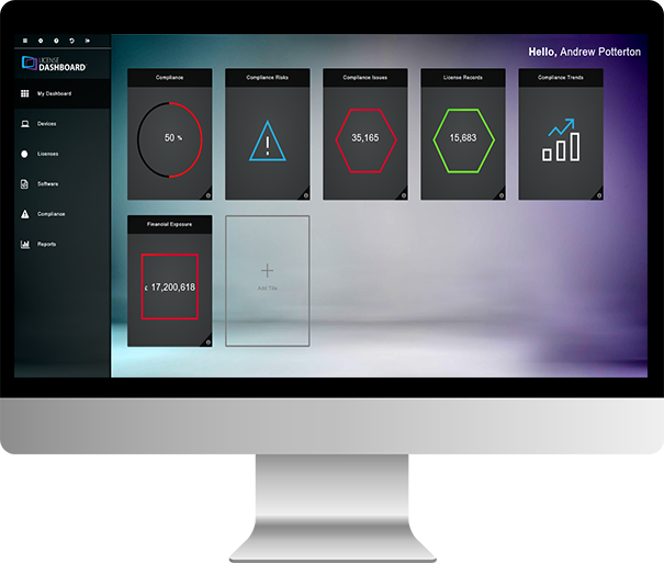 License Dashboard Portal for the CEO and Director